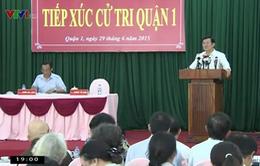 Chủ tịch nước tiếp xúc cử tri TP.HCM