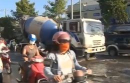 Triều cường gây ngập nhiều tuyến đường ở TP Cần thơ