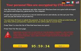 Cảnh báo mã độc tống tiền CTB Locker