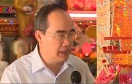 Ủy ban TƯ MTTQ Việt Nam chúc Tết đồng bào Khmer ở Trà Vinh