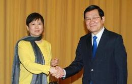 Chủ tịch nước tiếp Hội Hữu nghị Đối ngoại Nhân dân Trung Quốc