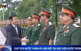 Chủ tịch nước Trương Tấn Sang thăm và làm việc tại Học viện Quốc phòng