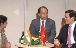 Chủ tịch nước Trương Tấn Sang tiếp Bộ trưởng Ngoại giao Ấn Độ