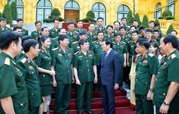 Chủ tịch nước gặp mặt cán bộ, học viên Học viện Hậu cần