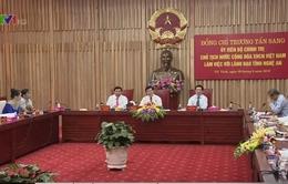 Chủ tịch nước thăm và làm việc tại tỉnh Nghệ An
