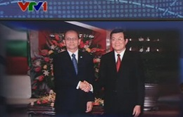 Chủ tịch nước Trương Tấn Sang hội kiến với Tổng thống Myanmar
