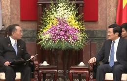 Chủ tịch nước tiếp Chủ tịch Thượng viện Nhật Bản