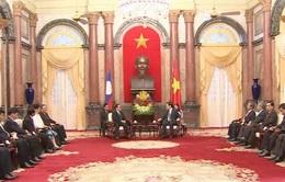 Chủ tịch nước Trương Tấn Sang tiếp Thủ tướng Lào