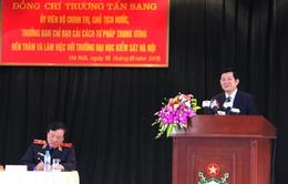Chủ tịch nước thăm trường Đại học Kiểm sát Hà Nội
