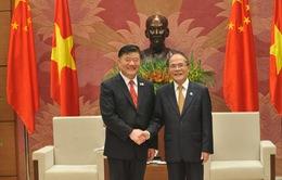 Chủ tịch Quốc hội Nguyễn Sinh Hùng tiếp Phó Chủ tịch Quốc hội Trung Quốc