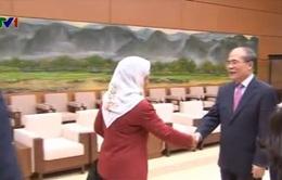 Chủ tịch Quốc hội Singapore thăm chính thức Việt Nam