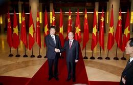 Chủ tịch Quốc hội Nguyễn Sinh Hùng hội kiến Tổng Bí thư, Chủ tịch Trung Quốc Tập Cận Bình