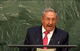 Chủ tịch Cuba yêu cầu Mỹ chấm dứt lệnh cấm vận kinh tế