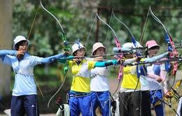 Đoàn Hà Nội tạm dẫn đầu giải Bắn cung vô địch quốc gia 2015