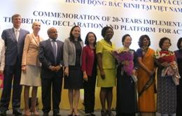 Tổng kết 20 năm thực hiện Cương lĩnh Bắc Kinh về quyền phụ nữ