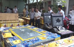 Vũng Tàu: Tiêu hủy 20 máy đánh bạc trá hình