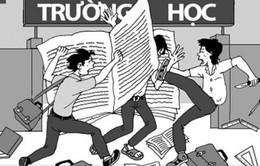 Xuất hiện thêm hai đoạn hình ảnh học sinh đánh nhau