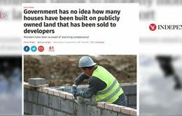 Anh: Tranh cãi quanh kế hoạch bán đất công xây nhà ở thương mại