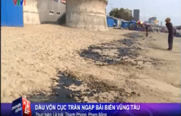 Vũng Tàu: Dầu vón cục tràn ngập bãi biển