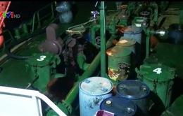 Cảnh sát biển bắt giữ tàu mua bán trái phép dầu FO