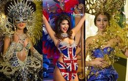 Hoa hậu Hoàn vũ 2015 gợi cảm tuyệt đối trong trang phục dân tộc