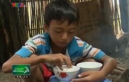 Bữa sáng đến trường chỉ cơm chấm muối của em học sinh nghèo vượt khó