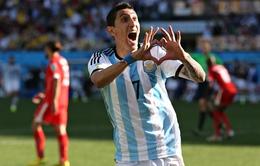 Bất chấp chấn thương, Di Maria vẫn được gọi vào ĐT Argentina