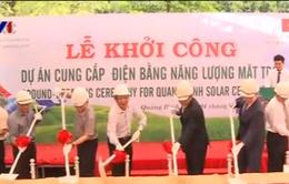 Quảng Bình khởi công dự án cấp điện mặt trời cho vùng sâu, vùng xa