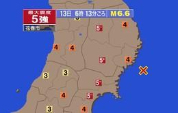 Động đất mạnh 6,6 độ richter tại Nhật Bản