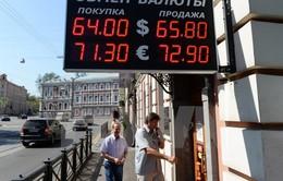 Đồng Ruble Nga giảm xuống mức thấp nhất từ tháng 12/2014