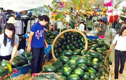 TP.HCM: Dưa hấu tiêu thụ mạnh tại các siêu thị