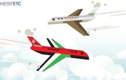 Máy bay của hãng Emirates và Etihad suýt đâm nhau trên không