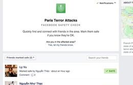 Facebook tung tính năng 'đánh dấu an toàn' sau khủng bố ở Paris