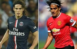Man Utd: Falcao đi và Cavani đến?
