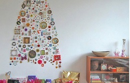 Trang trí Giáng Sinh rực rỡ chỉ với cây thông... giả