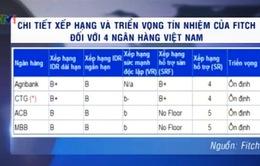 Fitch giữ nguyên tín nhiệm 4 ngân hàng Việt Nam