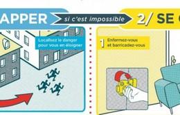 Pháp in bản chỉ dẫn để đối phó với những vụ tấn công khủng bố