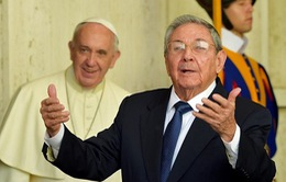 Chủ tịch Cuba gặp Giáo hoàng Francis