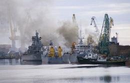Hé lộ nguyên nhân ban đầu vụtàuhạt nhân Nga bốc cháy