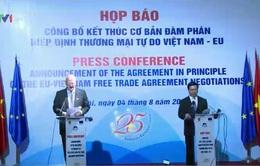Chính thức công bố kết thúc đàm phán FTA Việt Nam - EU