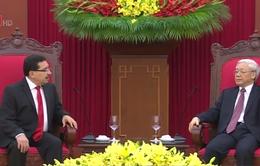 Tổng Bí thư Nguyễn Phú Trọng tiếp Tổng Bí thư Đảng FMLN, El Salvador