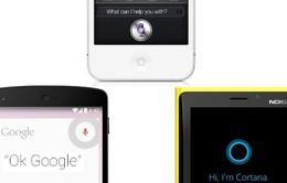 Siri đánh bật Google Now, Cortana về độ chính xác trong cuộc chiến trợ lý ảo