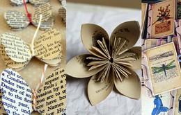 Tái chế sách, báo cũ thành đồ handmade xinh xắn