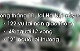 Tháng 11, Hà Nội xảy ra 122 vụ tai nạn giao thông