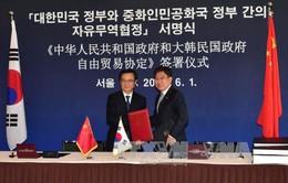 Trung Quốc - Hàn Quốc ký Hiệp định thương mại tự do