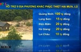 Hỗ trợ 9 địa phương khắc phục thiệt hại mưa, lũ