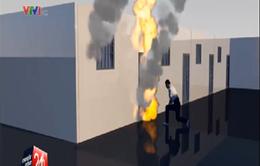 Ghen tuông, chồng phóng hỏa đốt gia đình nhà vợ
