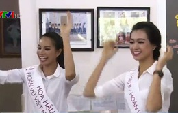 Hoa hậu Phạm Thị Hương rạng rỡ đi từ thiện sau đăng quang