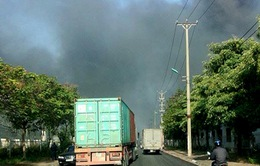 Cháy lớn ở khu công nghiệp Quế Võ, Bắc Ninh