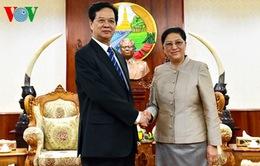 Thủ tướng Nguyễn Tấn Dũng hội kiến Chủ tịch Quốc hội Lào